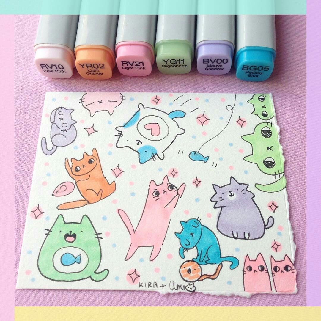 Copic Marker Art Copic Marker Art Cute Easy Drawings Art