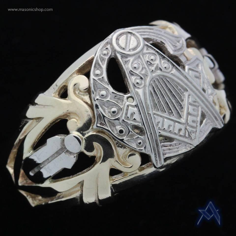 9694ad6f9236 Big G Square and Compass Ring | Masonic Rings | Freemason ring ...