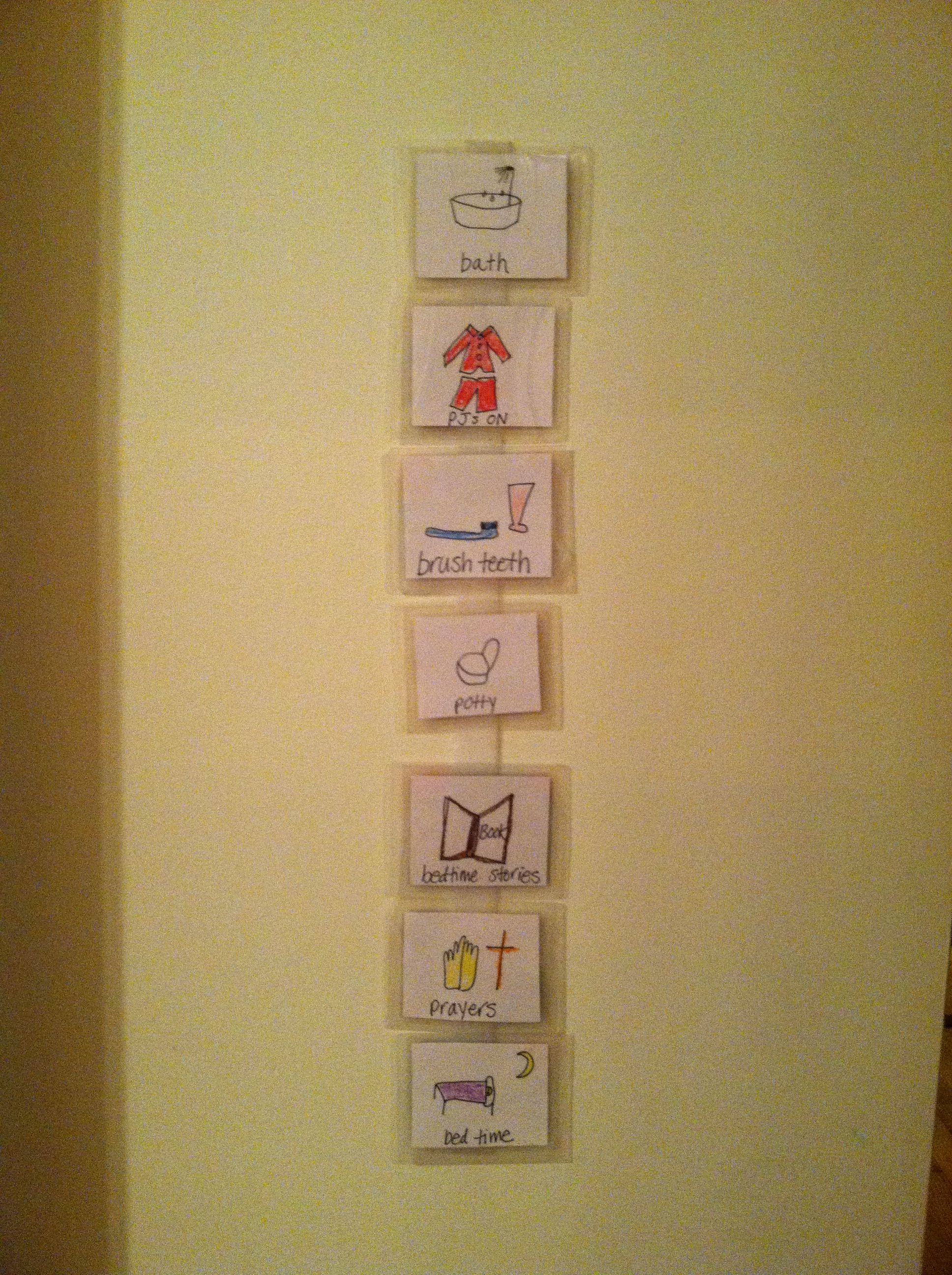 Easy Visual Schedule Hand Draw Laminate And Velcro