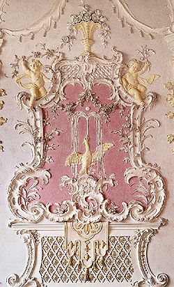 Schlei heim new palace germany northern garden hall for Rococo decorative style