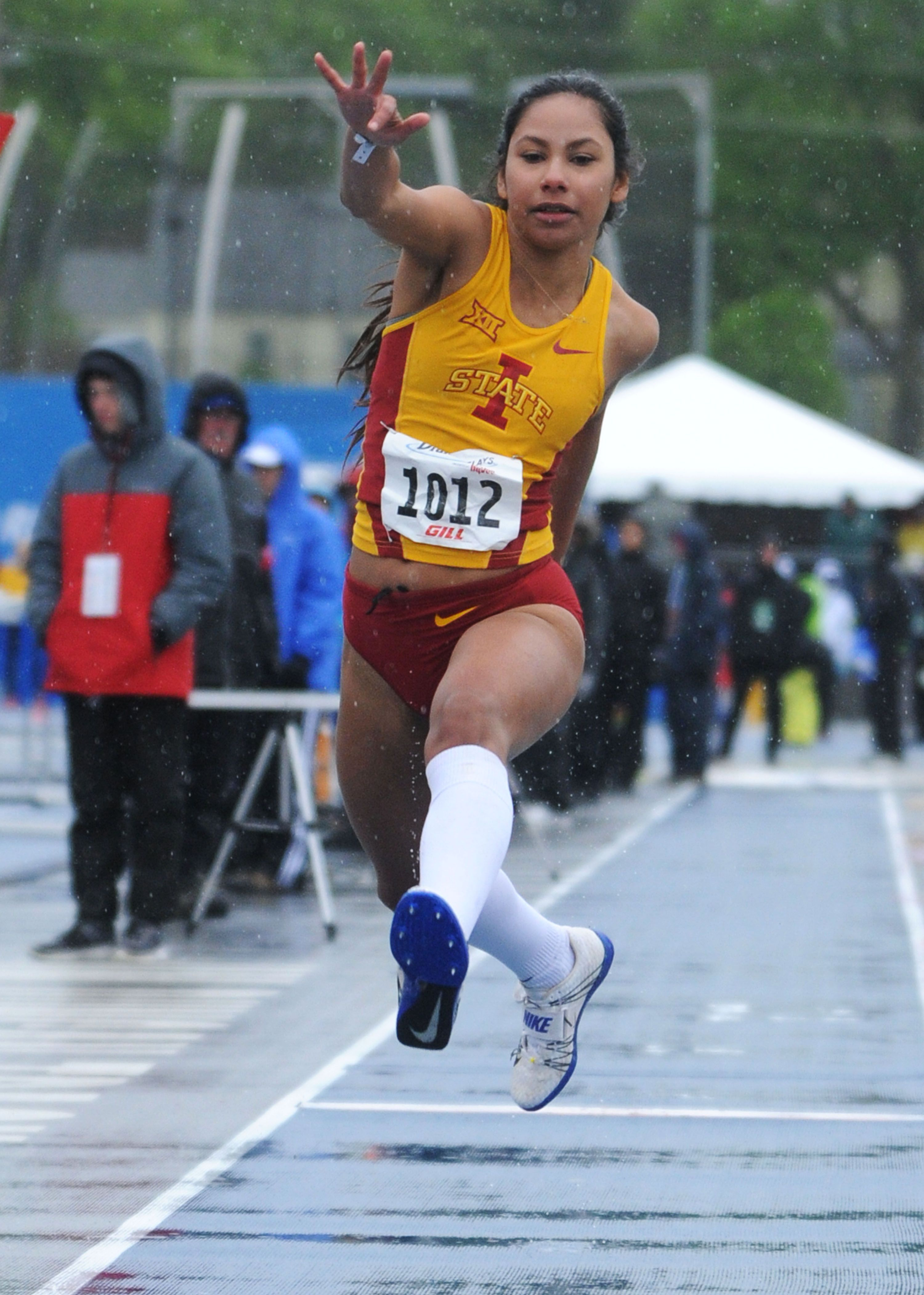 Iowa State's Jhoanmy Luque competes during the university