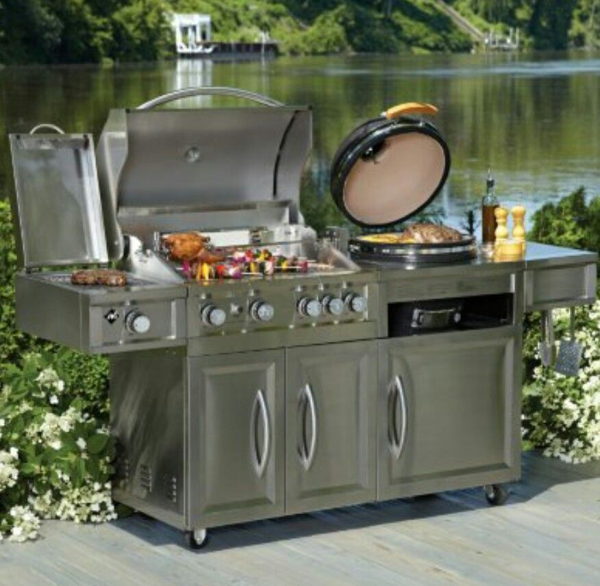 Members Mark Gas Amp Kamado Grill Combo From Samsclub Bbq