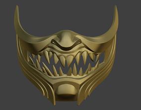 Sub Zero Samurai Mask For Face From Mortal Kombat 11 3d Print Model Japanese Mask Japanese Mask Tattoo Print Models