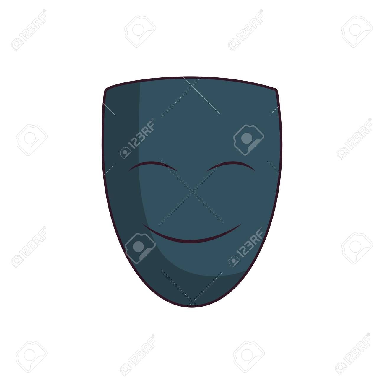 theater mask icon over white background vector illustration  icon