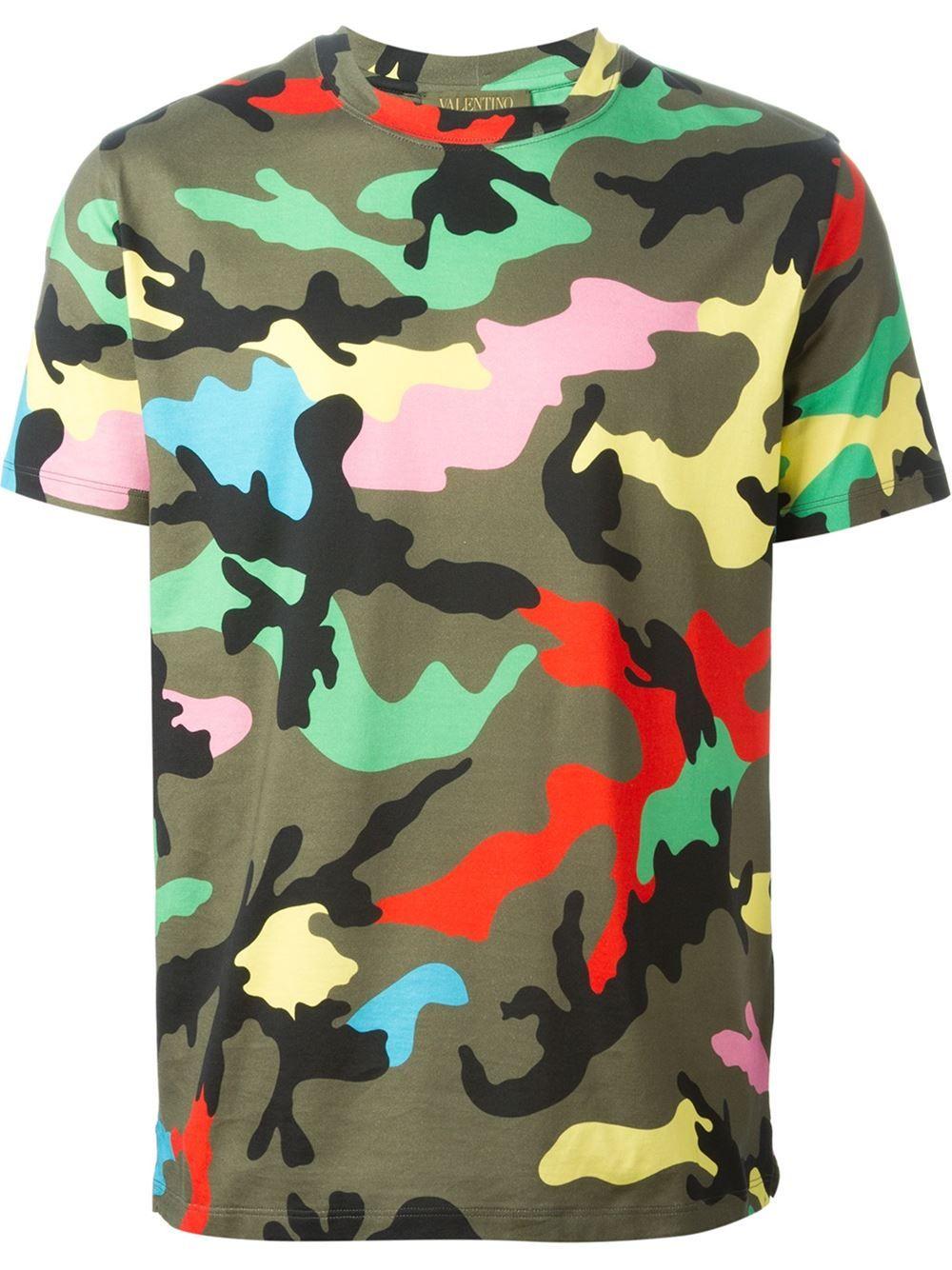 872fe6ca Men's Designer T-Shirts 2019. Valentino 'rockstud' Camouflage T-shirt -  Julian Fashion - Farfetch.com