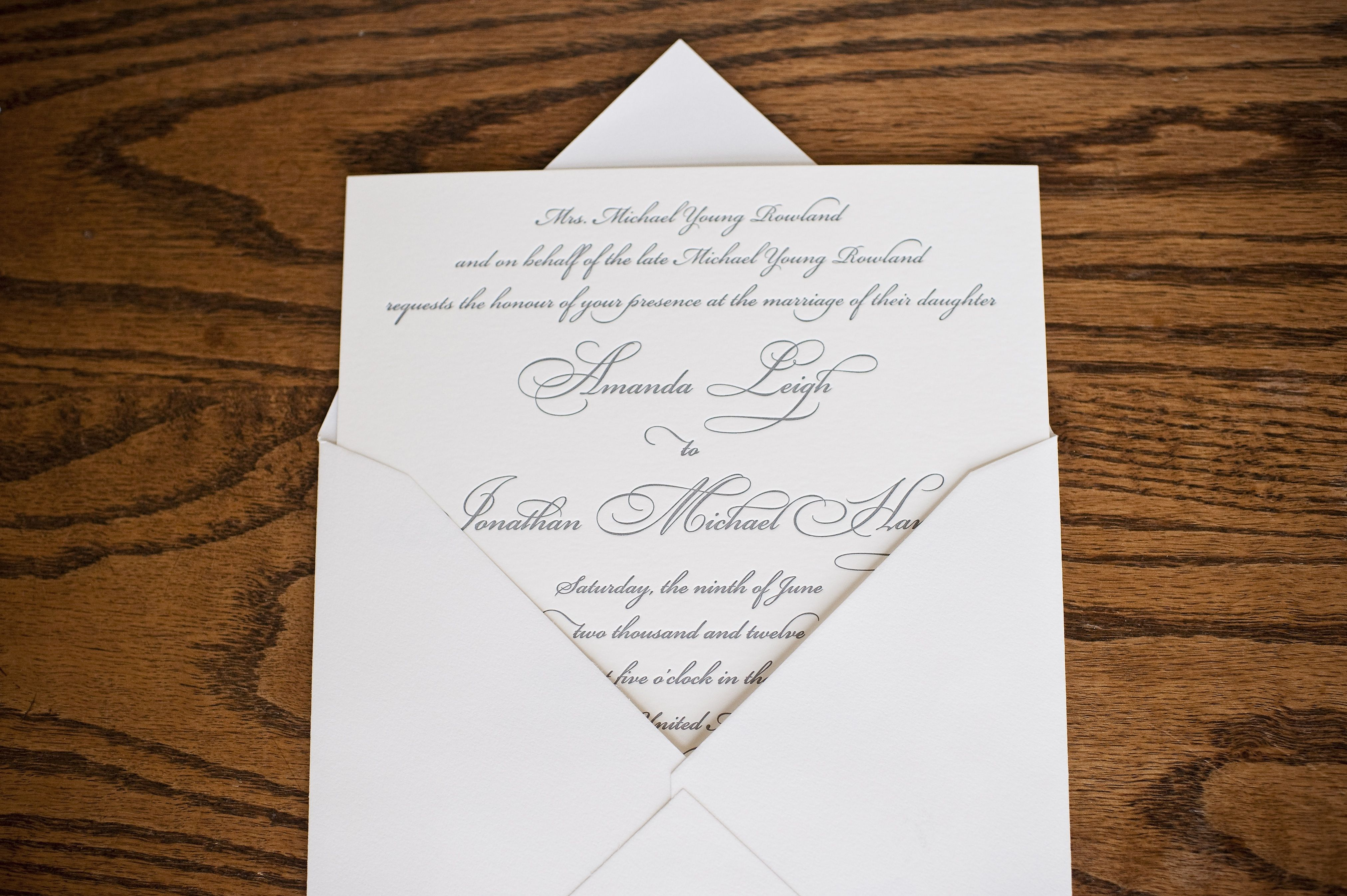 Wedding invitations by The Happy Envelope, Knoxville, TN; photo by ...