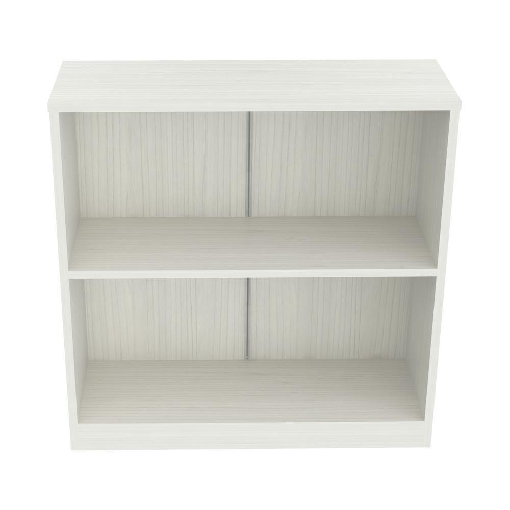 Inval Laricina White Bookcase-Hutch, White Laminates