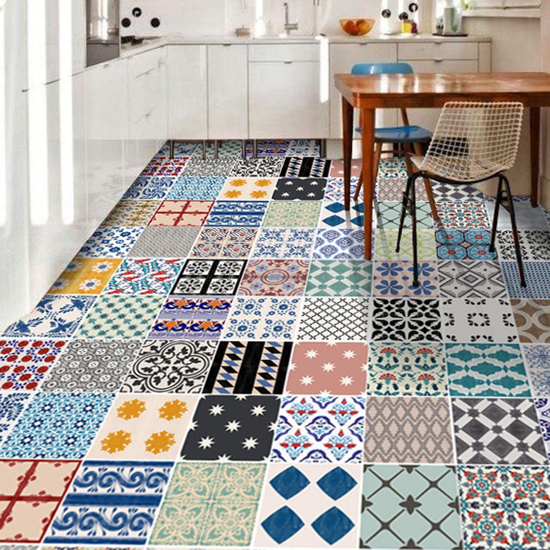 Vinyle Adhésif Pour Sol tile stickers - tiles for kitchen/bathroom back splash