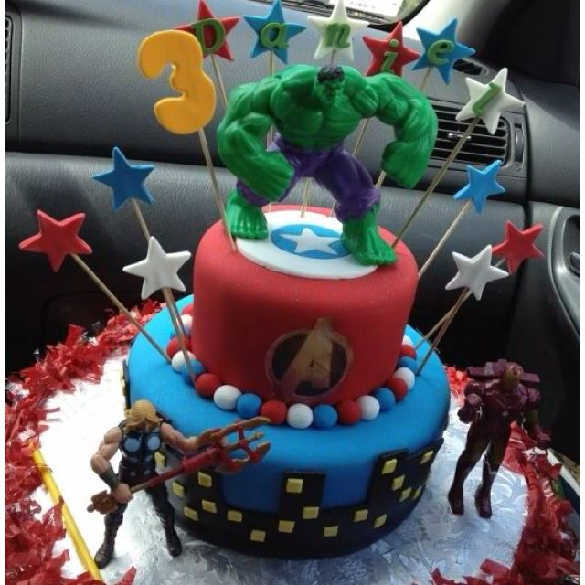 Avengers birthday cake food is always fun Pinterest Avengers