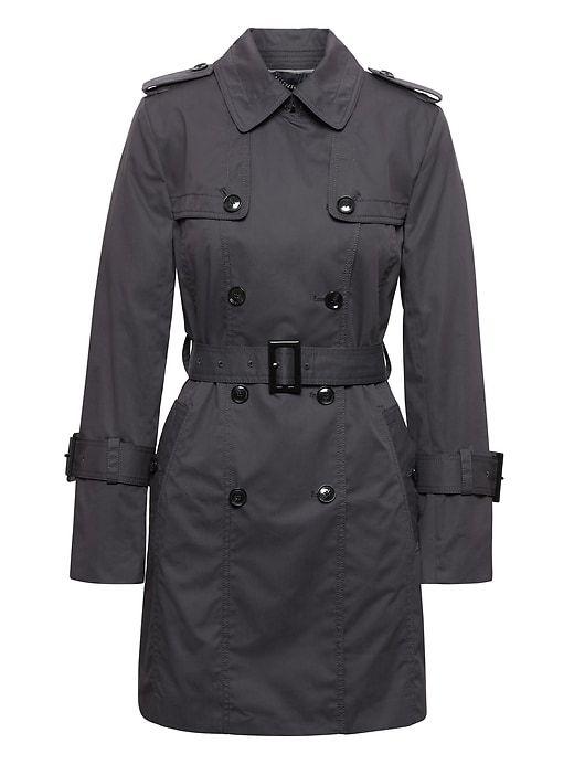 e0a84c95c Banana Republic Womens Petite Water-Resistant Classic Trench Coat ...