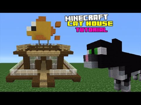 Minecraft Tutorial How To Make A Cat House Youtube Minecraft