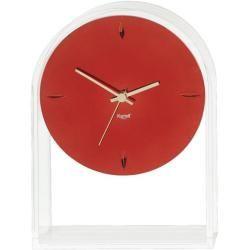 Photo of Kartell Air du Temps Uhr transparent / rot metallicDesigntolike.de