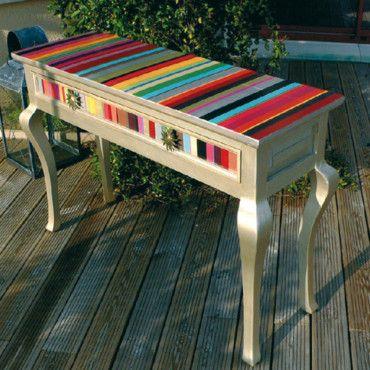 Console peinture à motif Tendance - DIY - Mobilier Pinterest