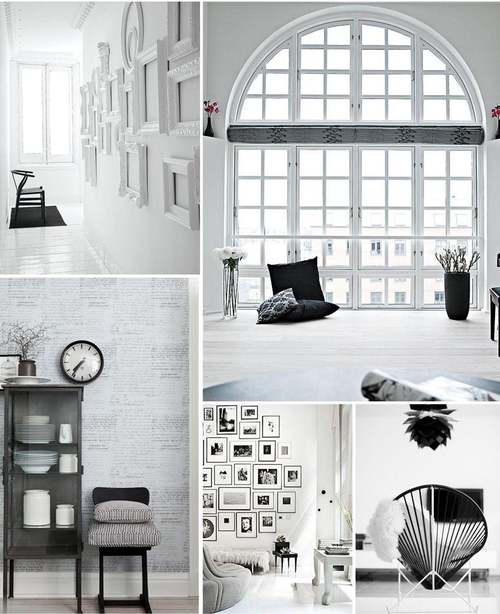 Interior Konzepte Schwarz Weiß | Collagen | Pinterest | Konzept ...