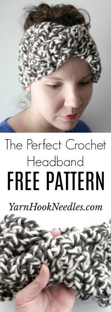 The Simple, Chunky Crochet Head Wrap Pattern | Cute crochet ideas ...