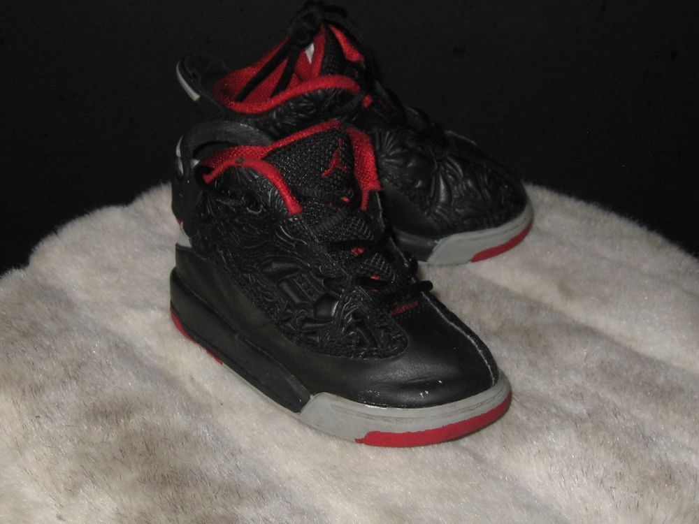 5922e6d17a6bf3 Baby Toddler Nike Air Jordan Dub Zero Sneakers Size 8C Black 311072-013   Nike