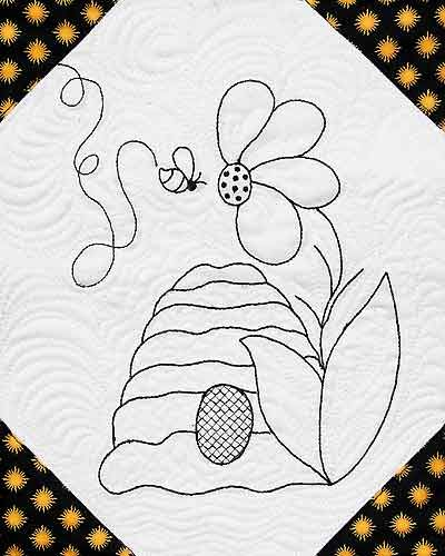 Beehive Quilt Pattern Free Beez Designs For Hand Embroidery