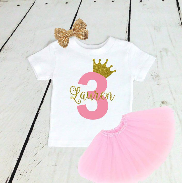 ANY AGE, 2 Year Old Girls Birthday Outfit, Girls 2nd, 3rd, 4th, 5th Birthday Shirt, Long Sleeve, Three Year Old 6 7 8 9 10