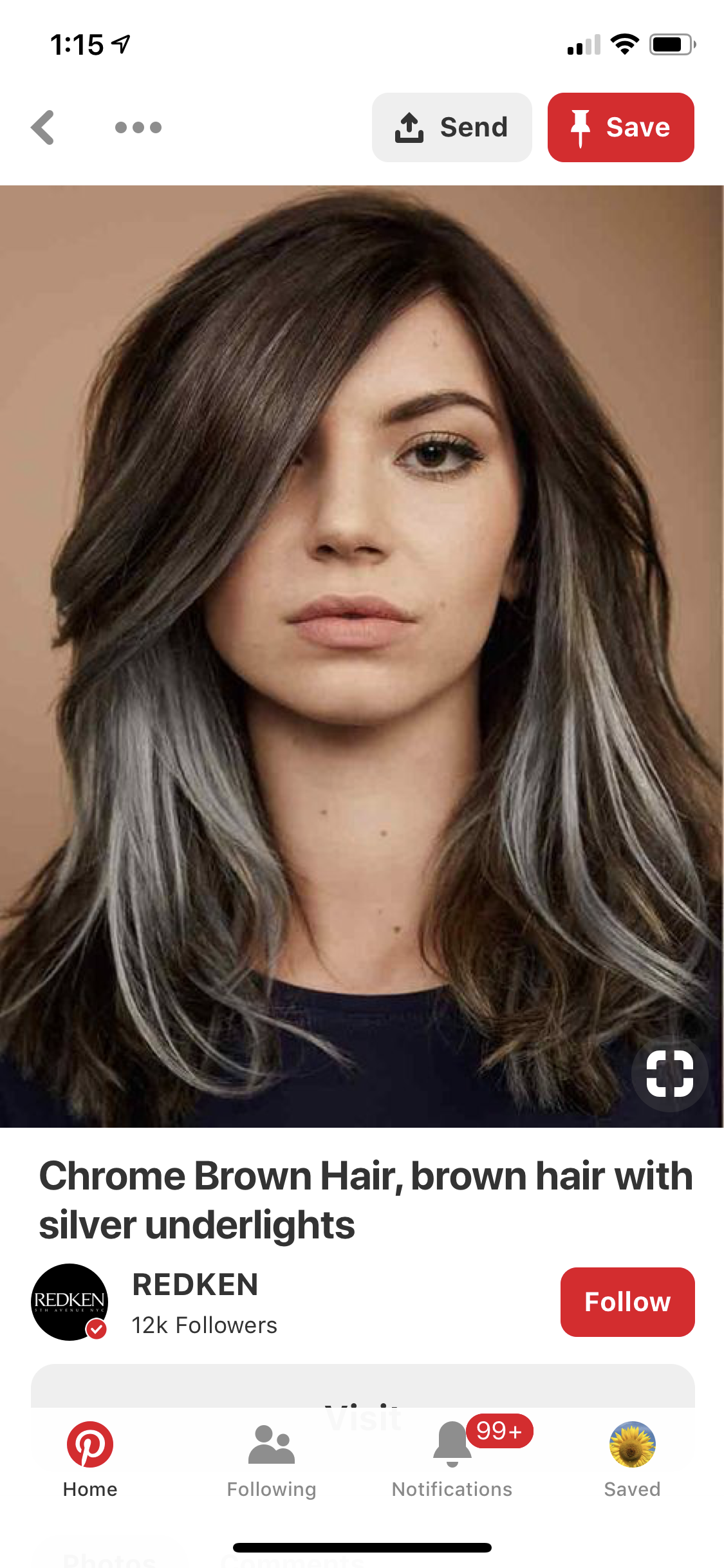 Streaks In Front To Gradually Start Letting It Go Gray Gray Hair Highlights Hair Highlights Gray Hair Growing Out