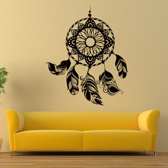 Dreamcatcher Wall Decals Dream Catcher Feather Vinyl Wall Decal ...