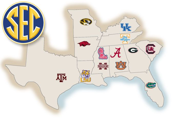 SEC Predictionsweek Week Is Upon Us And The SEC Has Seen - Us map of d1 colleges
