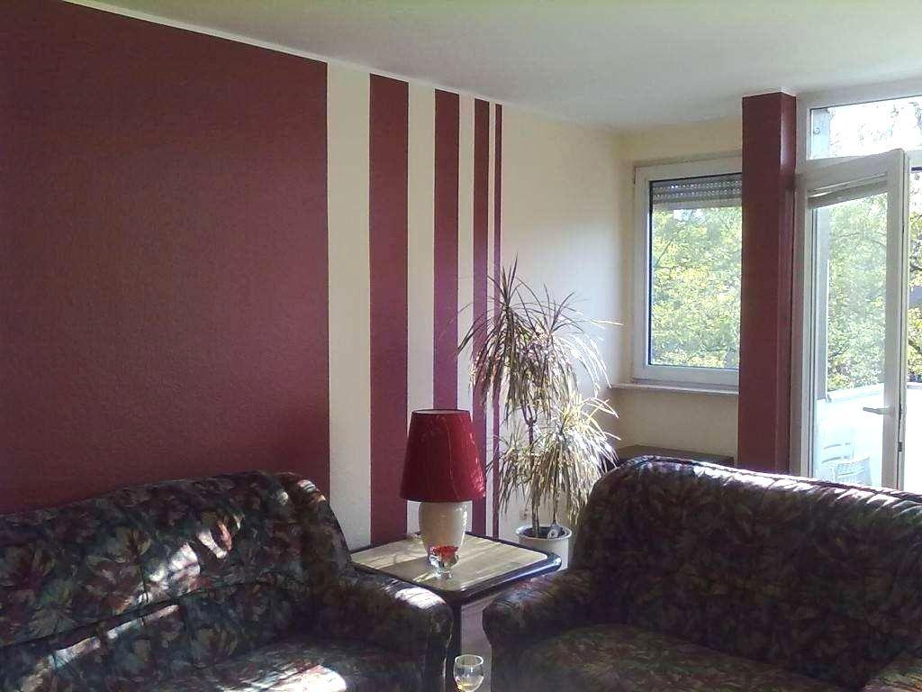 Wohnzimmerwand Streichen Wand Streichen Muster Ideen ...