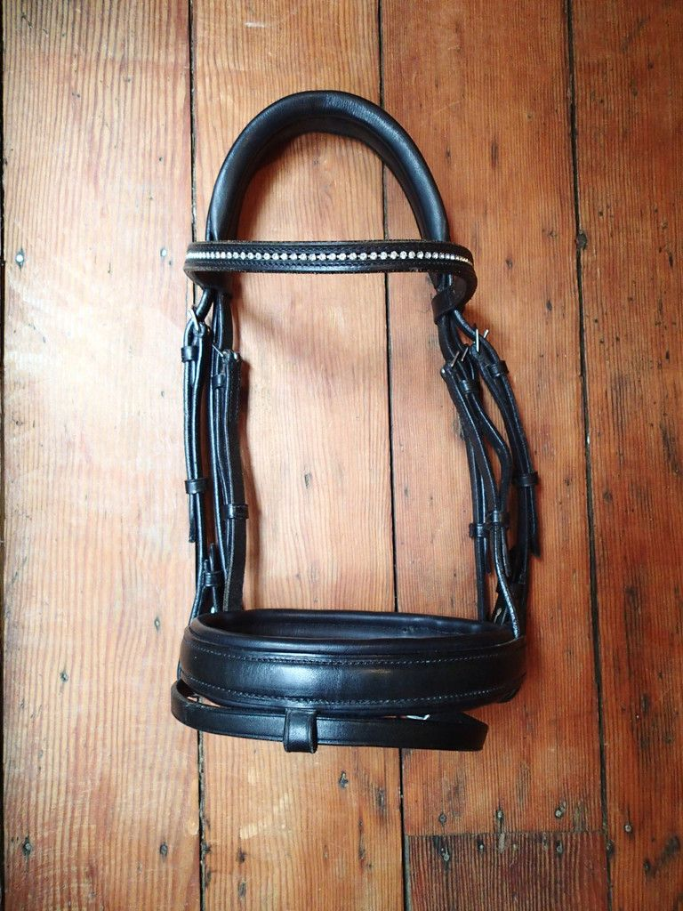 Passier Scorpius Bridle with Crystal Browband, monocrown