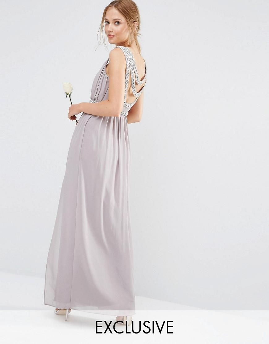 Tfnc tfnc wedding embellished back detail maxi dress at asos