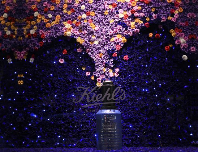"""SAKS FIFTH AVENUE,New York,KIEHL: """"Midnight Recovery Concentrate"""" for Saks Glam Gardens,photo by Stylecurated, pinned by Ton van der Veer"""