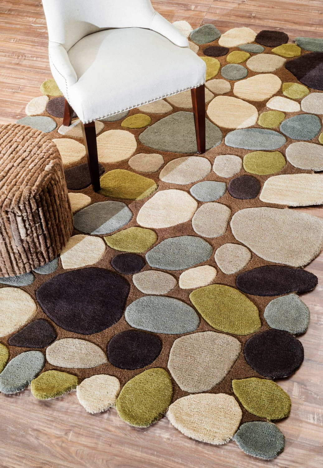 Amazing Rugs USA Serendipity Contemporary Handmade Wool Pebbles Cobblestone Brown  Rug Awesome Design