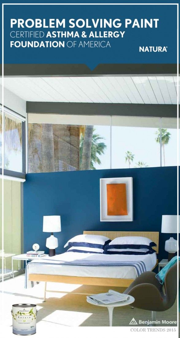 Problem Solving Paint. Certified Asthma & Allergy Foundation of America.  Benjamin Moore Natura Paint. [ad]