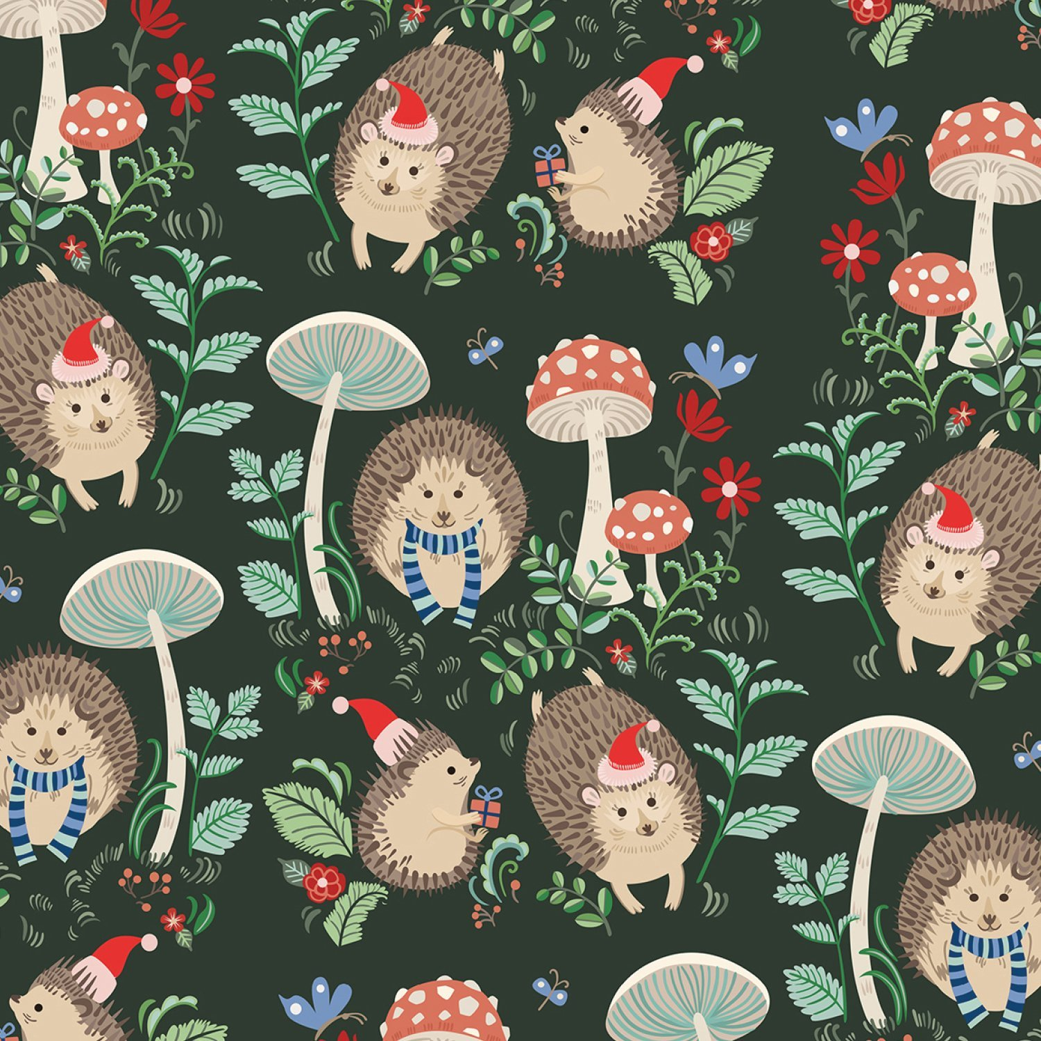 Bulk Ream Roll Christmas Gift Wrap Wrapping Paper Holiday Hedgehog Hedgehog Christmas Hedgehog Gifts Recycled Gifts