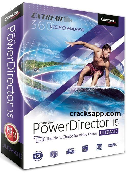 CyberLink PowerDirector 15 Ultimate Crack + Serial Key Full Version