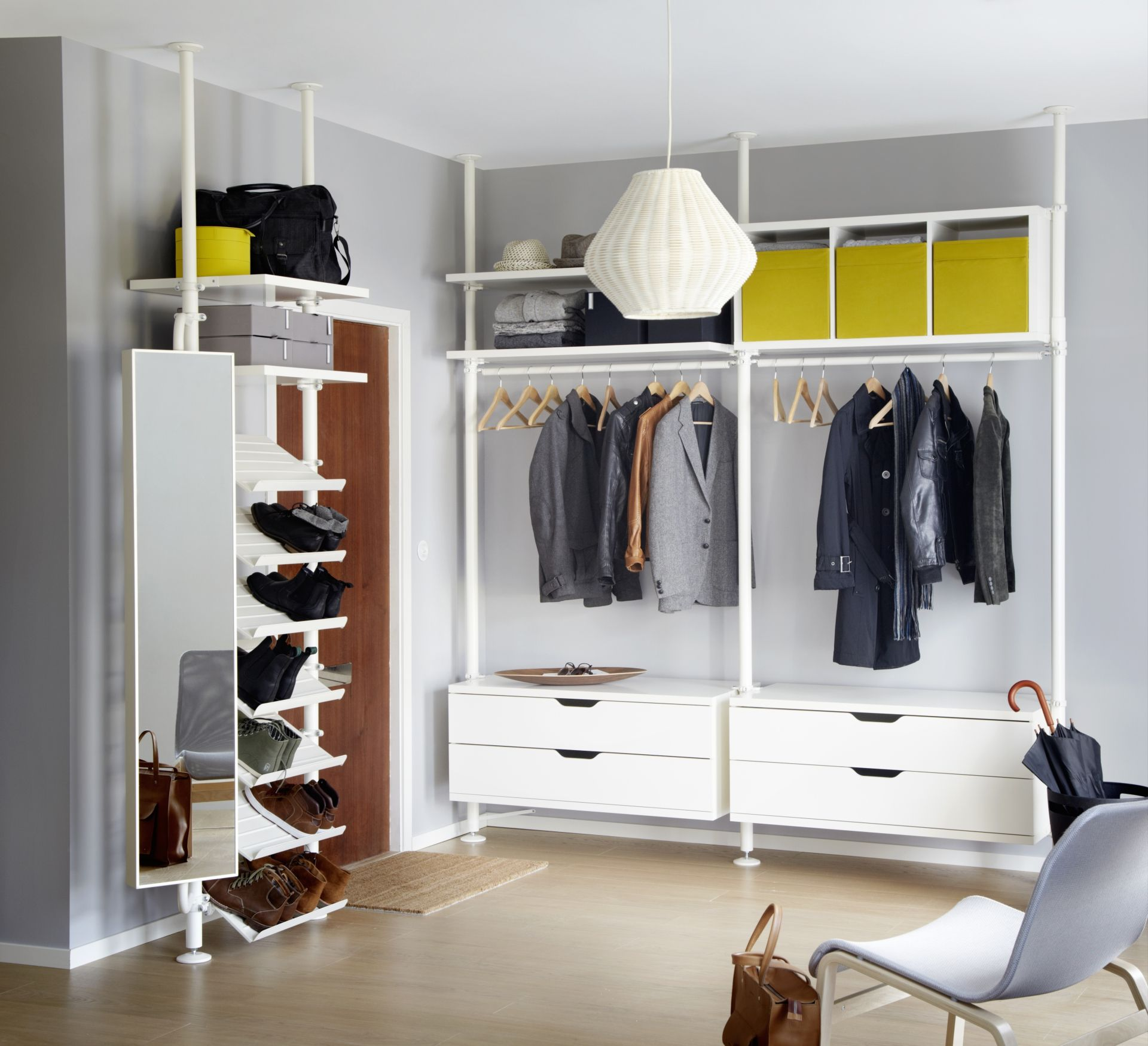 STOLMEN 2 sections IKEA Height adjustable cm - allows you to utilise the  entire ceiling height.