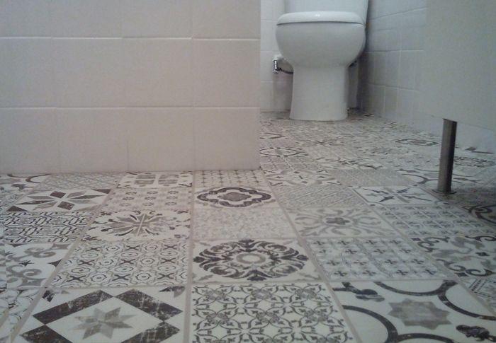 Renovar el suelo del baño sin obra, en una tarde ...