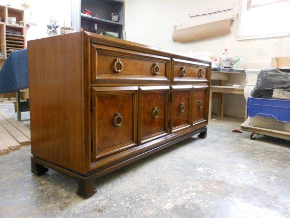60 S Dresser Buffet Burled Wood Dresser Cabinet Doors