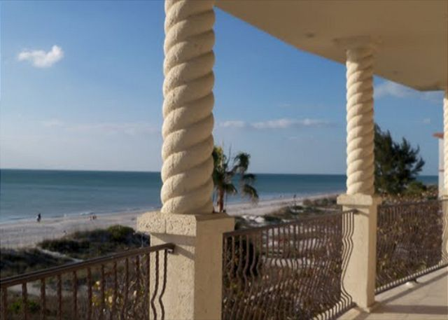 A Balcony View From The Belle Maison Beach House In Indian Rocks FL