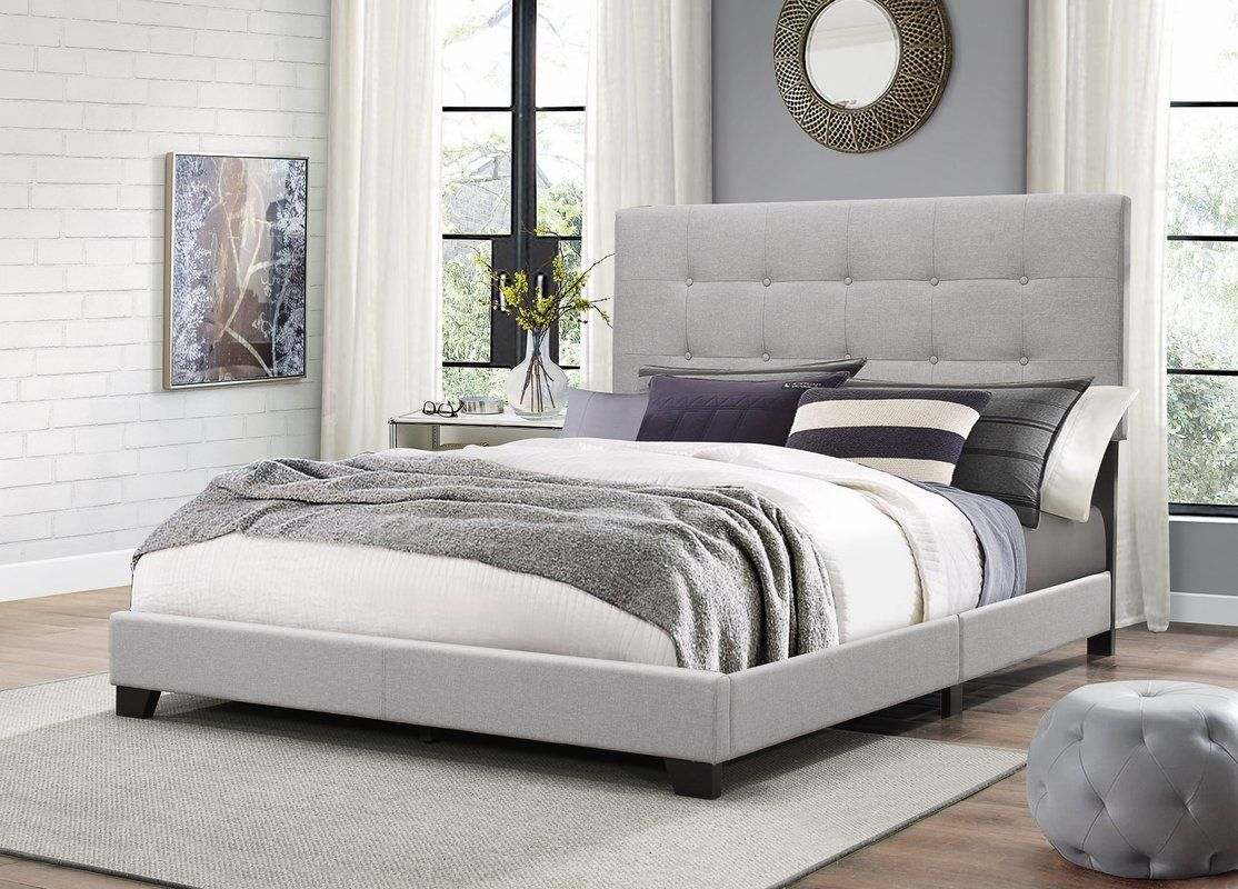 Janicki Upholstered Panel Bed Grey Upholstered Bed Upholstered Panel Bed Upholstered Platform Bed