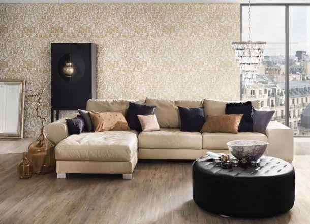 Tapete Barock Blume creme braun livingwalls 32831-6 Barock Tapeten - wohnzimmer creme rot