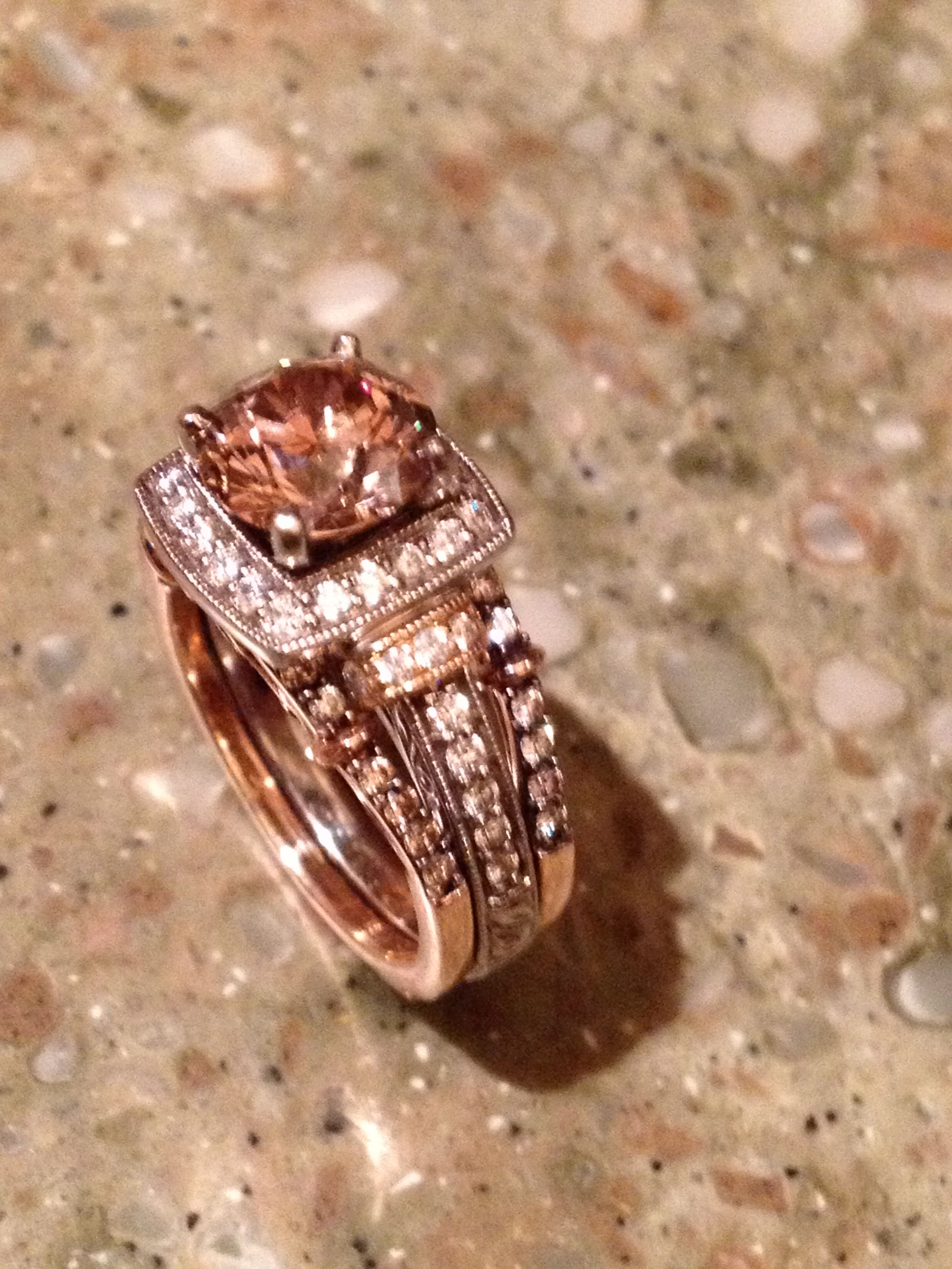 LeVian Chocolate Diamond white and rose gold Bejeweled Pinterest