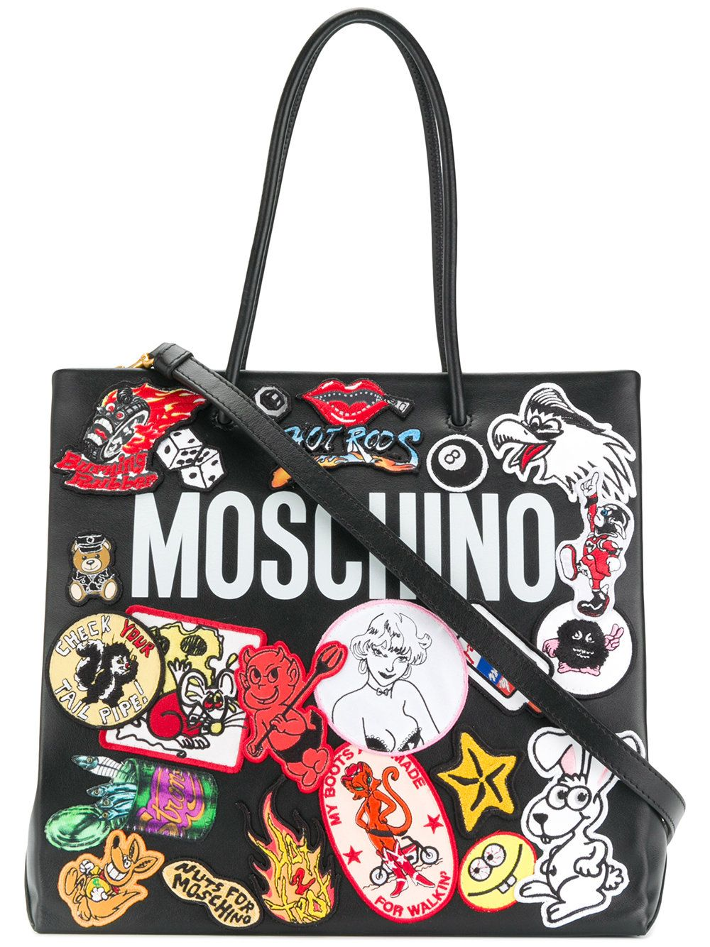 191c7576853 Moschino logo patch tote bag   Mignons Sacs   Pinterest   Bags ...