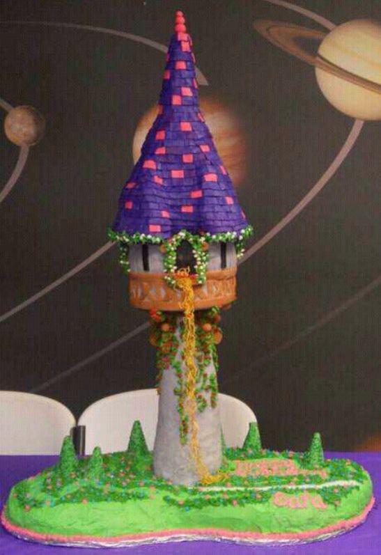 4 foot tall tangled tower cake I made