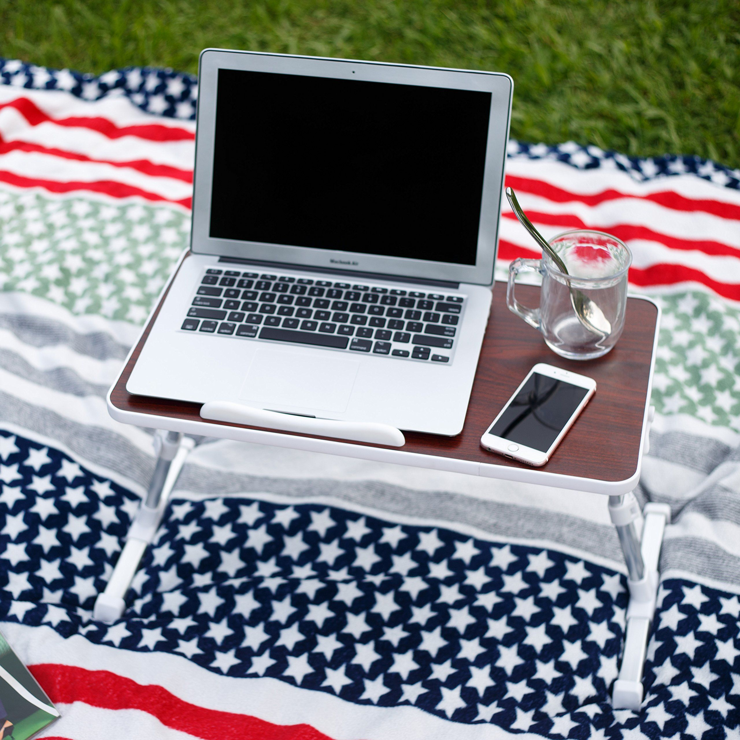 NNEWVANTE Adjustable Laptop Table for Bed Portable