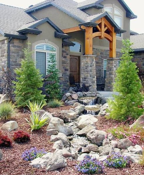 We love how this creek water feature turned out in our client\u0027s