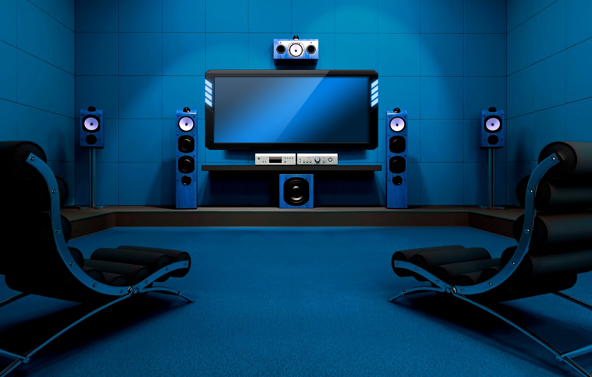 Hi tech home theater ati technology background wallpapers for Wallpaper home theater