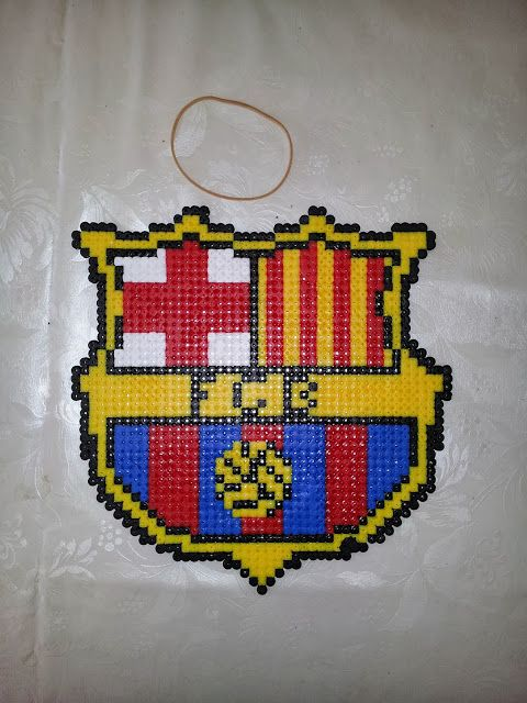 FCB #fcb #barcelona #football #pattern #perler #pearl #pearlbeads #beads #hama #hobby #craft #crafting #creation #hobby #art