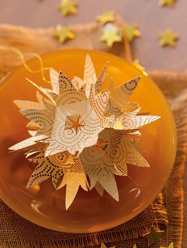 Anleitung: Lorenzo-Sterne als Weihnachtsdeko basteln
