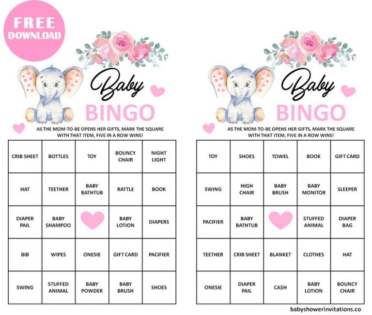 Free Printable Baby Shower Bingo Cards For Printing Baby Shower Bingo Free Printable Baby Shower Bingo Baby Shower Printables