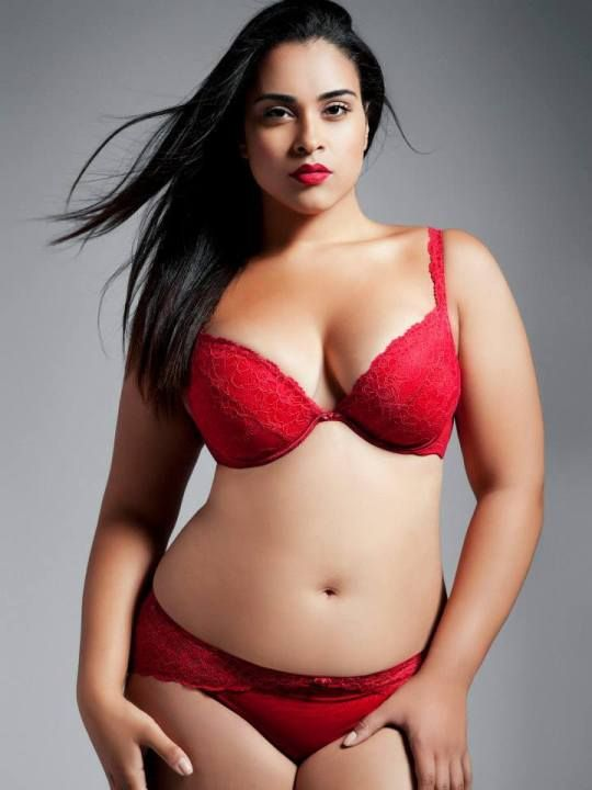 fc9eebf404d Plus Size Bra and Panty Sets Intimate Attitudes Scalloped Shelf Bra Set Red