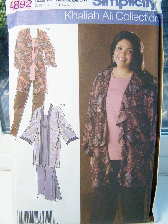 Simplicity 4892 Plus Size Sewing Pattern Womens Wardrobe Tunic